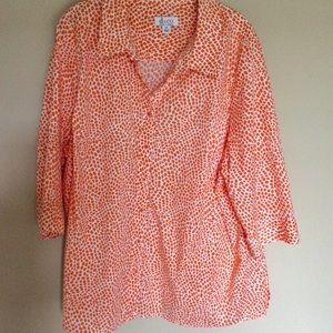 Denim & Co 3/4 sleeve blouse